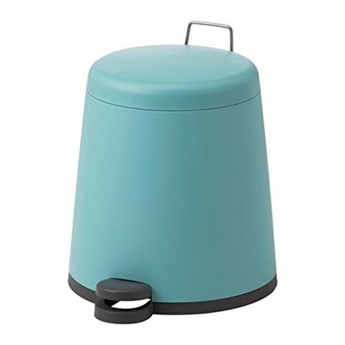 IKEA 803.224.12 - Cubo de basura con pedal, color azul