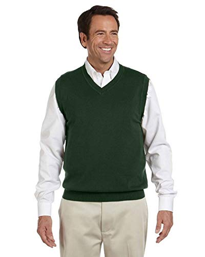 Devon & Jones V-Neck Sweater Vest D477 green XX-Large