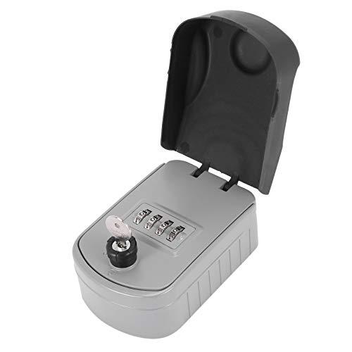 OVBBESS Caja de bloqueo de llave de contraseña Caja de bloqueo para llave de pared, caja de seguridad de almacenamiento resistente a la intemperie para el hogar al aire libre