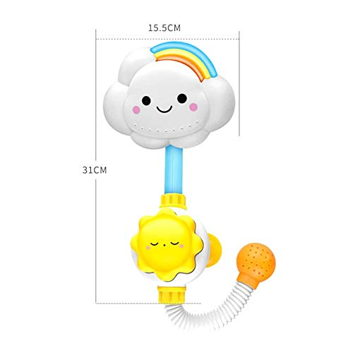 Review Neptunes Baby Bath Toy Kids Water Toys Waterfall Bathtub Showers Bathing Suction Cup Suckers ...
