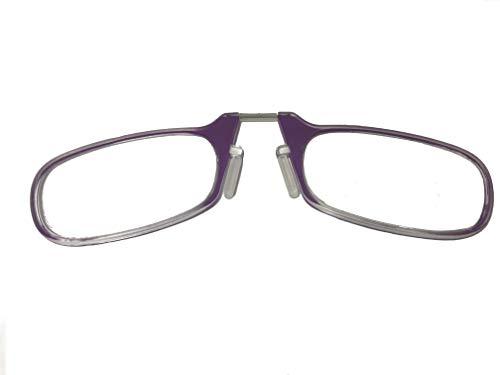 B-black® Occhiali da lettura, Occhiali Unisex Ultra Slim senza Stanghette astine Correzione Diottrie con Custodia adesiva Compatta Portatile (VIOLA, 1.00)