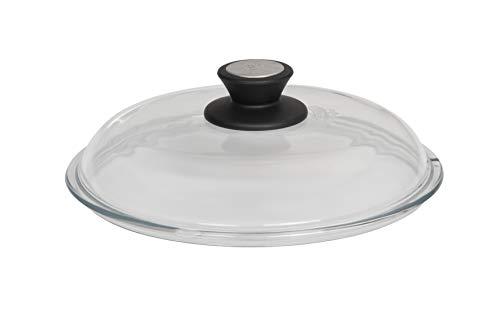 SKK 052 Glasdeckel mit SKK-Knopf, rund, 32cm, passend für Töpfe und Bratpfannen mit 32 cm Durchmesser