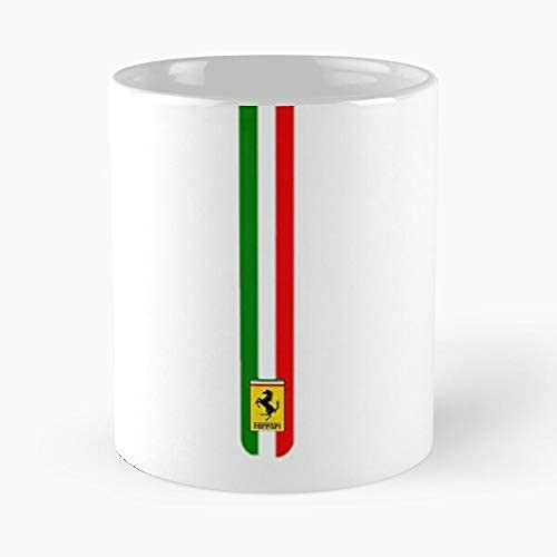 Fer-rari 360 Challenge Stradale - Taza clásica con diseño de rayas (cerámica, 325 ml)