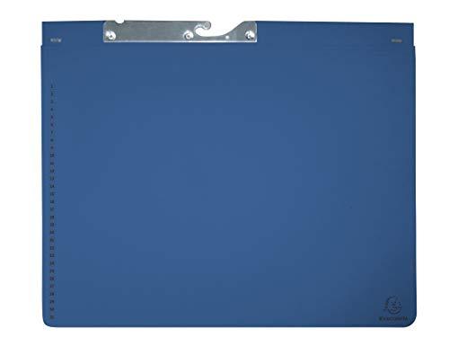 Exacompta 353207B Pendelhefter (2 Abheftvorrichtungen, 320 g/qm, dehnbare Tasche im Rücken) 1 Stück blau