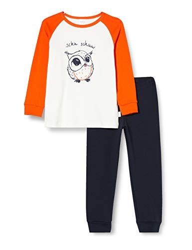 Schiesser Mädchen Md Schlafanzug lang Pyjamaset, orange, 128