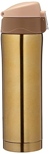 Garrafa Termica Aço Inox 500ml Vacuo Quente Frio Agua Café Dourado