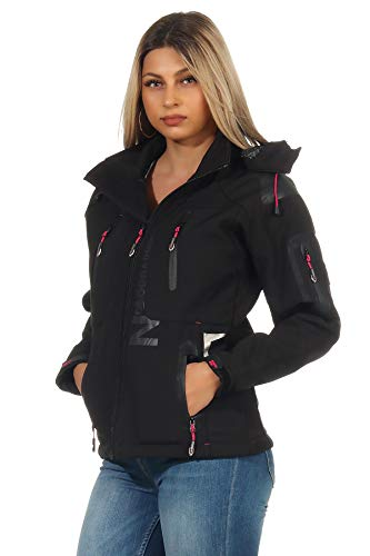 Geographical Norway Damen Softshell Jacke G-Tansy - SCHWARZ/F.PINK - L/3