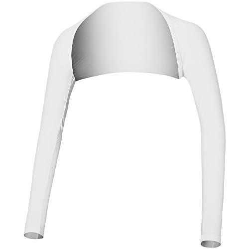 Sun Protection Arm Sleeve - Golf Clothing Shirts Womens Advanced Cooling Shawl zum Reiten, Golfen, Fahren im Freien, Weiß