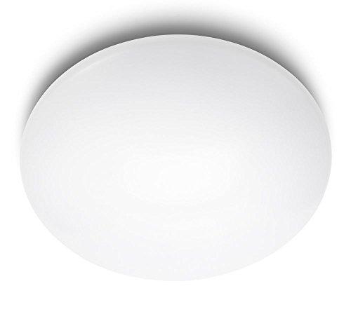 Philips MyLiving SUEDE plafón LED, luz blanca neutra 4000K, 4X9W, blanco