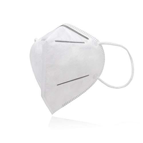 AUPROTEC 10 Stück Premium Mehrweg Maske mit innen liegendem Vlies 4 lagig Sehr gut für Mundschutz und Naseschutz