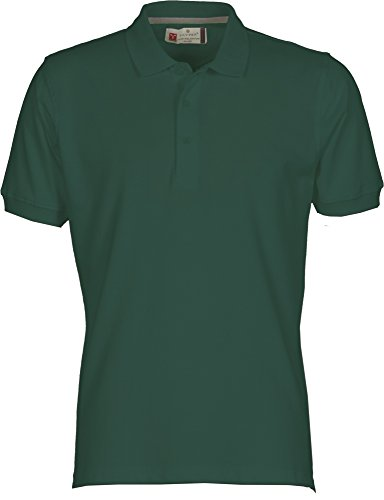 Payper Polo Homme Venice Coton Taille s à 5XL Manches Courtes col 3 Boutons - Vert - M