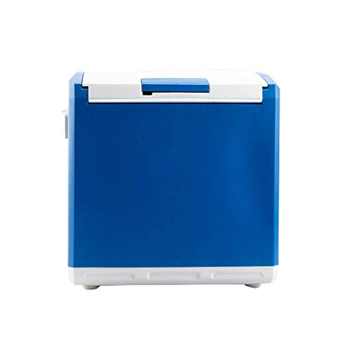 Koelkast auto, Mini koelkast 12v 220v, Portable Cool Box Electric Cooler Box Warmer Freezer 30 Liter (Kleur: Licht blauw, Maat: B) LOLDF1 (Color : Dark Blue, Size : A)