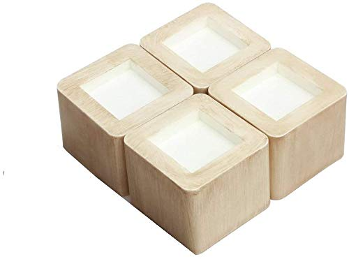 XINLUCK Bed Risers 3 inch Heavy Duty, Couch Risers or Furniture Risers,Bed high Risers Floors and Surfaces Protection (Wood Grain) -(4 Pieces)