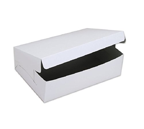 SafePro 19144C, 19x14x4-Inch Cardboard Cake Boxes, Take Out Disposable Paper Cake Pie Containers, Wholesale White Bakery Box (50)