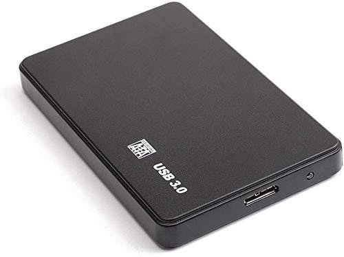 Disco duro externo de 2 TB de disco duro externo ultrafino USB 3.0 compatible con PC, Mac, escritorio, portátil (2 TB, B-Negro)