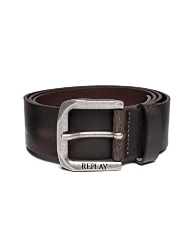 REPLAY Am2453.000.a3001e Cintura, Marrone (Black Brown 128), 9 (Taglia Produttore: 105) Uomo