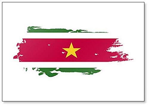 Kühlschrankmagnet Suriname-Flagge Grunge Brush Style