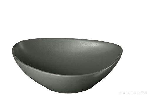 ASA 1216400 Salatteller, Teller tief, Pastateller - Cuba Grigio - D.21,5cm, H.6cm - 6 Stück