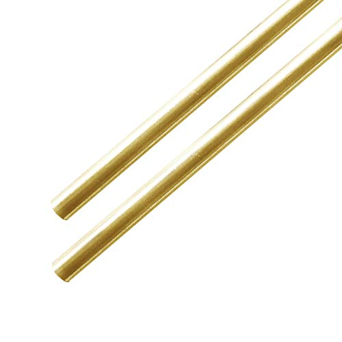 """Brass Rod 1/8"""" (0.125"""") Diameter - 6"""" Long - 2 Pieces – for Metal Crafting, Hobbies, Knife Making -Solid…"""