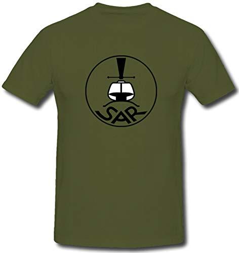 Bundeswehr Luftwaffe SAR Search and Rescue Hubschrauber - T Shirt #1373, Größe:XXL, Farbe:Oliv