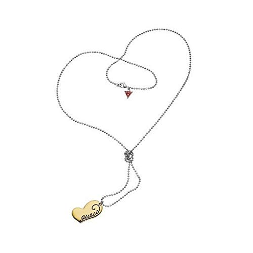 GUESS Pendant Silver and Pink Gold Stainless Steel Woman - Size (50CM)