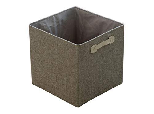 QCQ Algodón Lino Plegable Caja de Almacenamiento de Escritorio Caja de Almacenamiento de Ropa Cesta de Almacenamiento Caja de refrigerios Almacenamiento 31 * 31 * 31cm (Color : Gray)