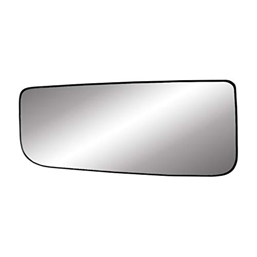 """Fit System Driver Side Heated Mirror Glass w/Backing Plate, F150 Towing Mirror Bottom Lens, 3 3/4"""" x 8 5/16"""" x 8 1/2"""""""