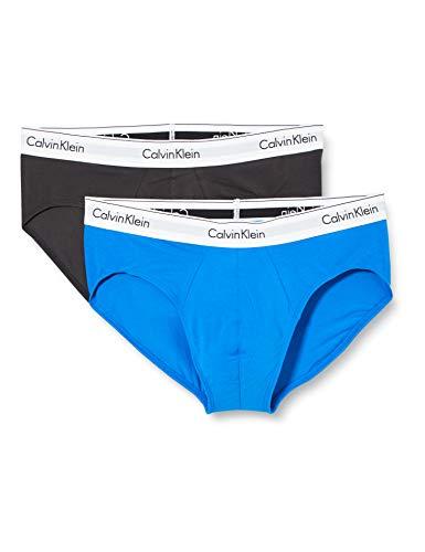 Calvin Klein Slip in Confezione da 2 Mutande, Blu Artesiano/Phantom, XL Uomo