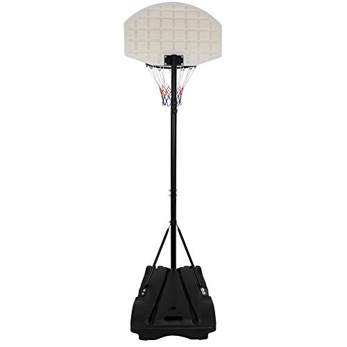Review 28'' x 18'' Backboard Adjustable Height Basketball Hoop Outdoor Stand