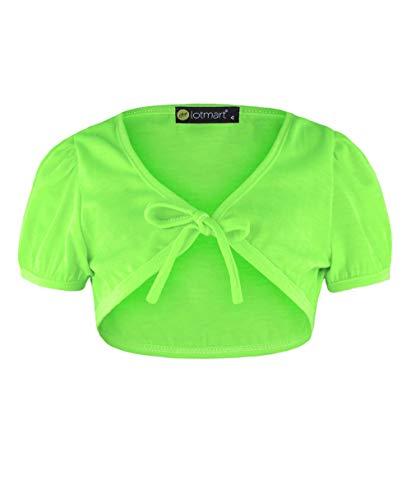LOTMART RageIT Lotmart Bolero für Mädchen, kurzärmelig Gr. 7-8 Jahre, grün
