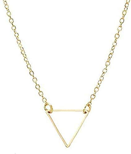 Yiffshunl Collar Collar clásico Collar Simple con Sierras Collar con Colgante de triángulo de Metal Regalo para Mujer Collar de joyería