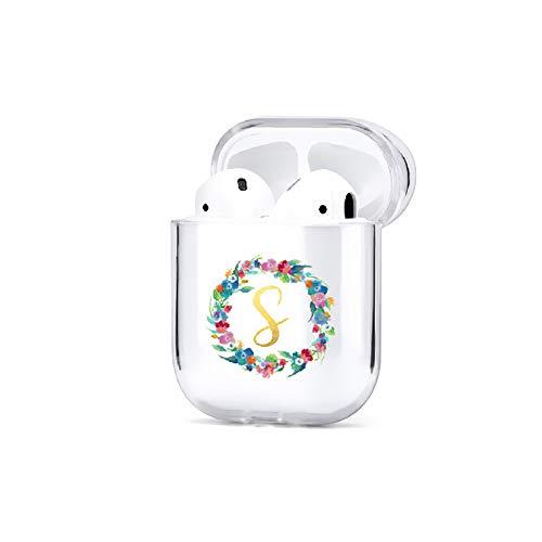 Ohrhörer Fall Schutz vor Kristallen Harte PC Shell Schocksichere Hülse Sport Voller Schutz Zubehör Box Laden Nette 26 Buchstaben(S)