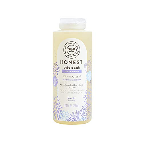 The Honest Company Truly Calming Lavender Bubble Bath Tear Free Kids Bubble Bath Naturally Derived Ingredients & Essential Oils Sulfate & Paraben Free Baby Bath 12 Fl. Oz