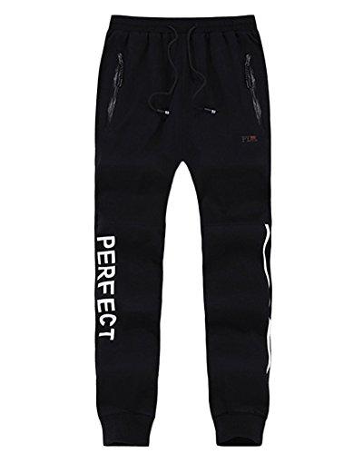 Homme Pantalon de Sport Casual Jogging Baggy Fitness Élasticité Respirant Pantalons décontractés Noir 7XL