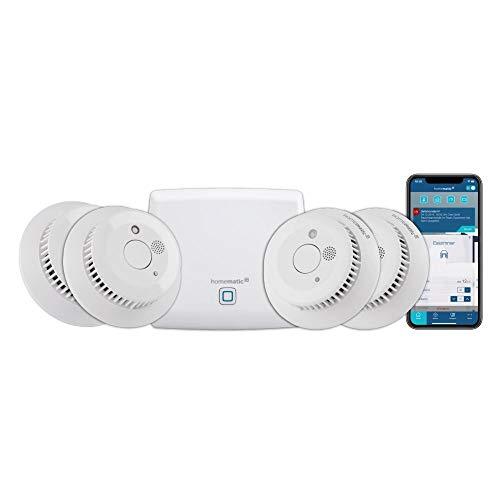 Homematic IP Smart Home Starter Set Rauchwarnmelder + zusätzlicher Rauchmelder, intelligenter Alarm lokal und per App aufs Smartphone