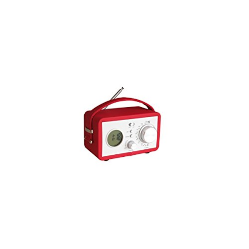 RADIO REVEIL VINTAGE - Rouge