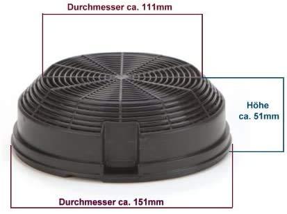 DREHFLEX® – Kohlefilter / Aktivkohlefilter – passend für Bauknecht-Whirlpool – Elica – AMC023 – passend für 481248048212 ersetzt 480122102341 - 5
