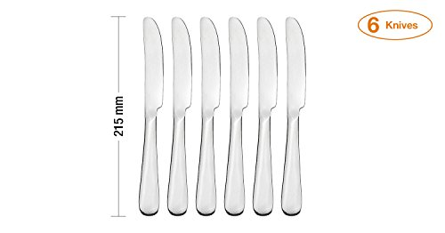 Amazon Brand - Solimo 24 Piece Stainless Steel Cutlery Set, Vintage (Contains: 6 Table Spoons, 6 Tea Spoons, 6 Forks, 6 Knives), Silver
