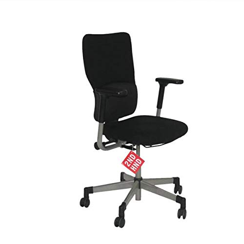 Steelcase Lets B Hi Back Task Chair with Arms in Original Black Fabric