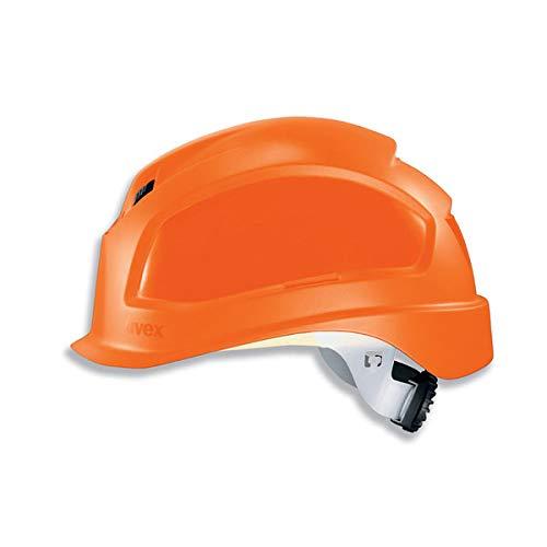 Uvex Pheos B-S-WR Schutzhelm - Belüfteter Arbeitshelm für die Baustelle - Orange Orange
