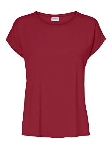 VERO MODA Damen VMAVA Plain SS TOP GA NOOS T-Shirt, Tibetan Red, XL