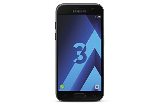 Samsung Galaxy A3 2017 Smartphone Portable débloqué 4G (Ecran: 4,7 Pouces - 16 Go - Nano-SIM - Android) Noir