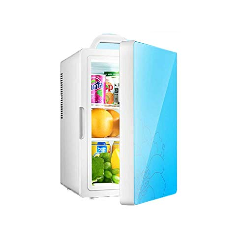 HSJ WYQ- 20L Coche pequeño refrigerador Alojamiento en Habitaciones compartida Mini pequeño Coche Inicio Inicio de Doble Uso Individual del Estudiante refrigeración (Color : Blue, Size : A)