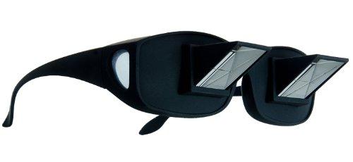KOBERT GOODS Prisma-Brille 90 Grad Blickwinkel-Funktion ermöglicht das Bequeme Lesen und Fernsehen im liegen Horizontale Sicht ohne Stärke für Entspannte Positionen im Bett und Sofa Lazy Readers