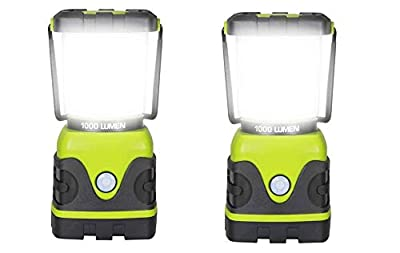 AcornSolution LED Camping Lantern, Battery Powered LED with 1000LM, 4 Light Modes, Waterproof Tent Light, Emergency, (Battery Not Included)(2 Pack, Camping Lantern)