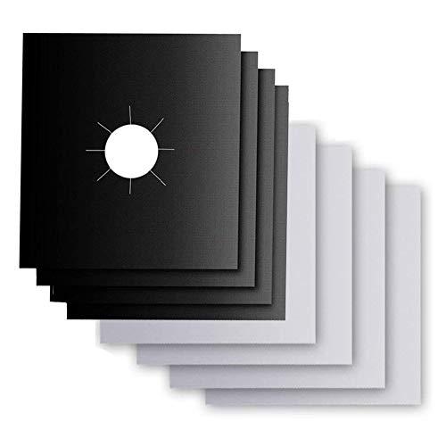 Nifogo Gas Range Protektoren, Schutzfolien für Gasherd, Küchenzubehör, Gasherd-Brenner, Fda-Genehmigt, Wiederverwendbare Gasherd-Matte (27cm*27cm)