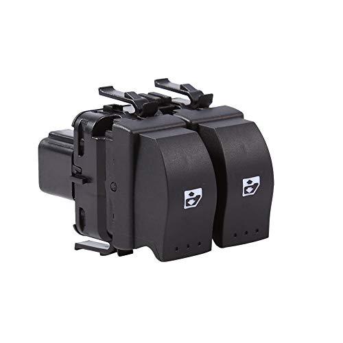 Qiilu Interruptor de control Ventana Electrónica Botones de los elevalunas derechos 8200 060 045 para Clio II B0, B1, B2, CB0, CB1, CB2, SB0, SB1, SB2 (1998-2014)