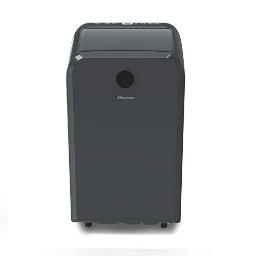 Hisense Dual-Hose Portable Air Conditioner with Inverter Technology 10,000 BTU Cooling Dehumidifier Fan for Rooms up to 550 sq ft, Remote Control, Black