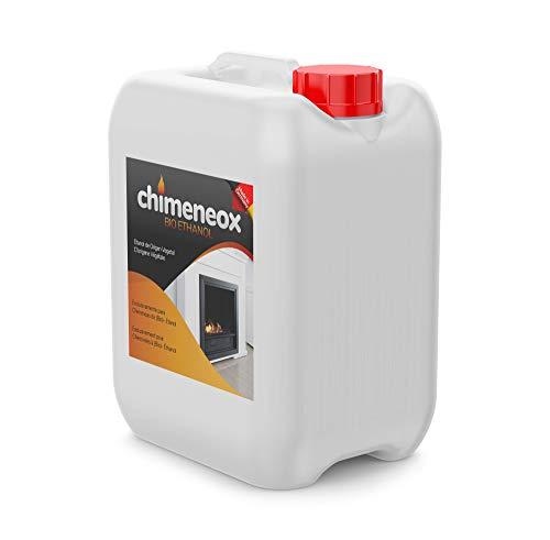 Chimeneox - 5L Bioetanol 96% para chimeneas - sin humo -