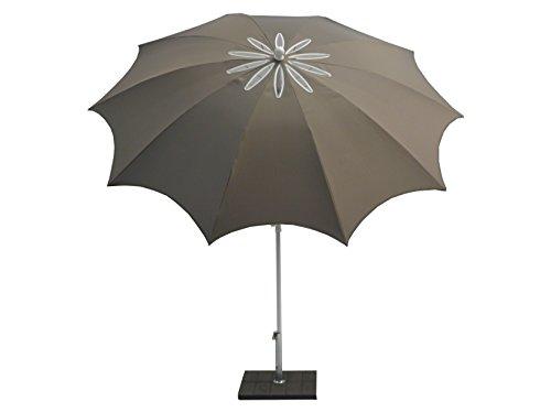 Maffei 'Design Parasol Bea Taupe (Cut Out de Air Vent) Ø 250 cm Knicker Coulissant de poignée